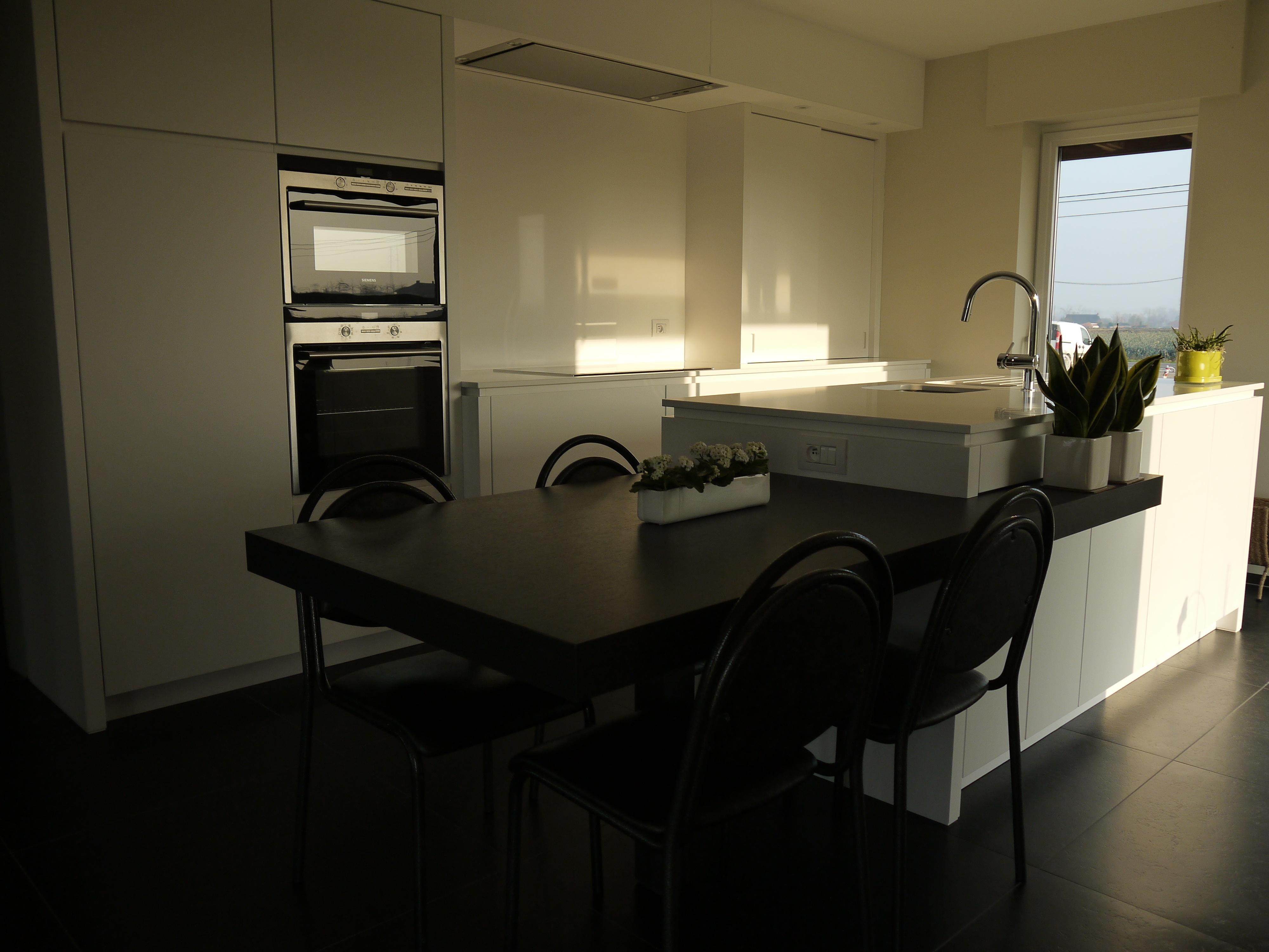 Keuken ontwerp eettafel eiland - Kleine centrale eiland goedkoop keuken ...